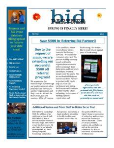 Bid Partner 2013 Spring newsletter