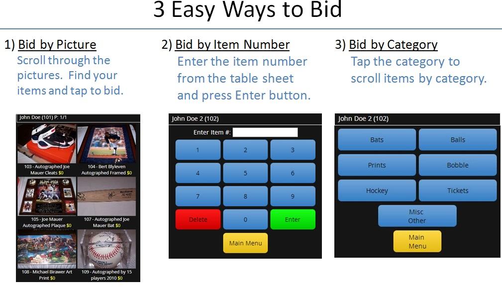 web page 3 ways to bid